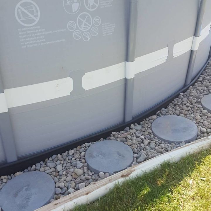 Making an outdoor oasis around your intex pool hometalk for Garden swimming pools below ground