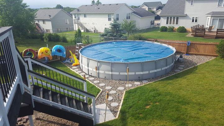 Making an outdoor oasis around your intex pool hometalk for Intex gartenpool