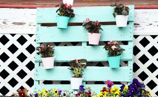 upcycled pallet turned to outdoor planter, container gardening, gardening, pallet, repurposing upcycling