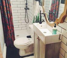 rustic glam bathroom, bathroom ideas, home decor, rustic furniture