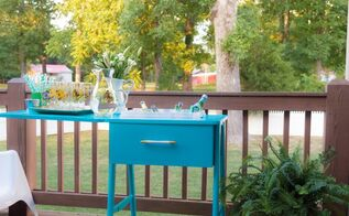diy sewing table turned drink station, diy, painted furniture, repurposing upcycling