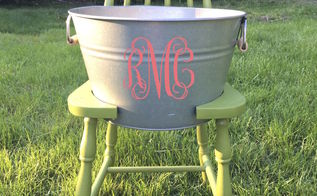 drink planter bucket chair, gardening, repurposing upcycling