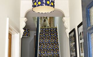 learn how easy its is to upcycle lampshades with wallpaper, crafts, lighting