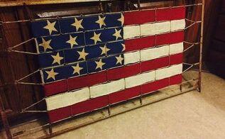 old crib to old glory, crafts, patriotic decor ideas, repurposing upcycling, seasonal holiday decor