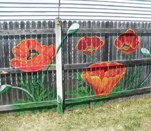 backyard fence art, fences, painting