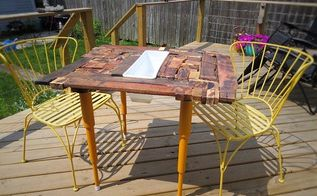 outdoor pallet wood table, diy, outdoor furniture, pallet, woodworking projects
