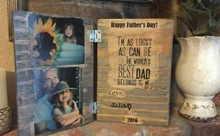 diy wood photo father s day card a keepsake dad will cherish , crafts, seasonal holiday decor