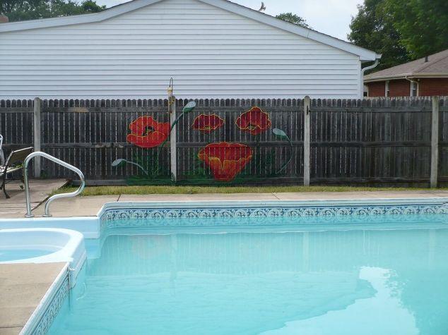 backyard fence art fences painting
