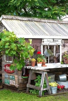 how to make a dream no build potting bench in minutes , gardening, how to, outdoor furniture, repurposing upcycling