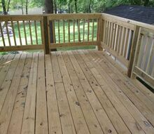 q new deck and railings should i paint stain or just seal help , decks, painting