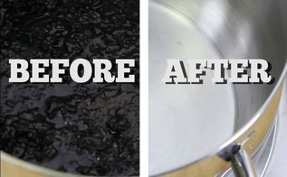 easy way to clean a burnt pot or pan