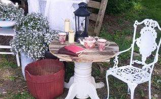 diy countryside rustic table, outdoor furniture, rustic furniture, woodworking projects