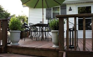 quick and easy diy deck staining, decks, diy, painting