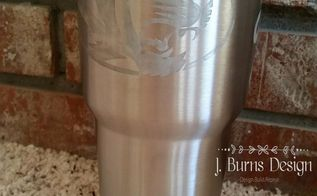 diy last minute father s day gift etching stainless steel, crafts, how to, seasonal holiday decor