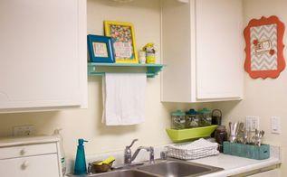 colorful galley kitchen, home decor, kitchen design, wall decor
