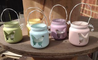 how to make mini lanterns using baby food jars , chalk paint, crafts, how to, repurposing upcycling