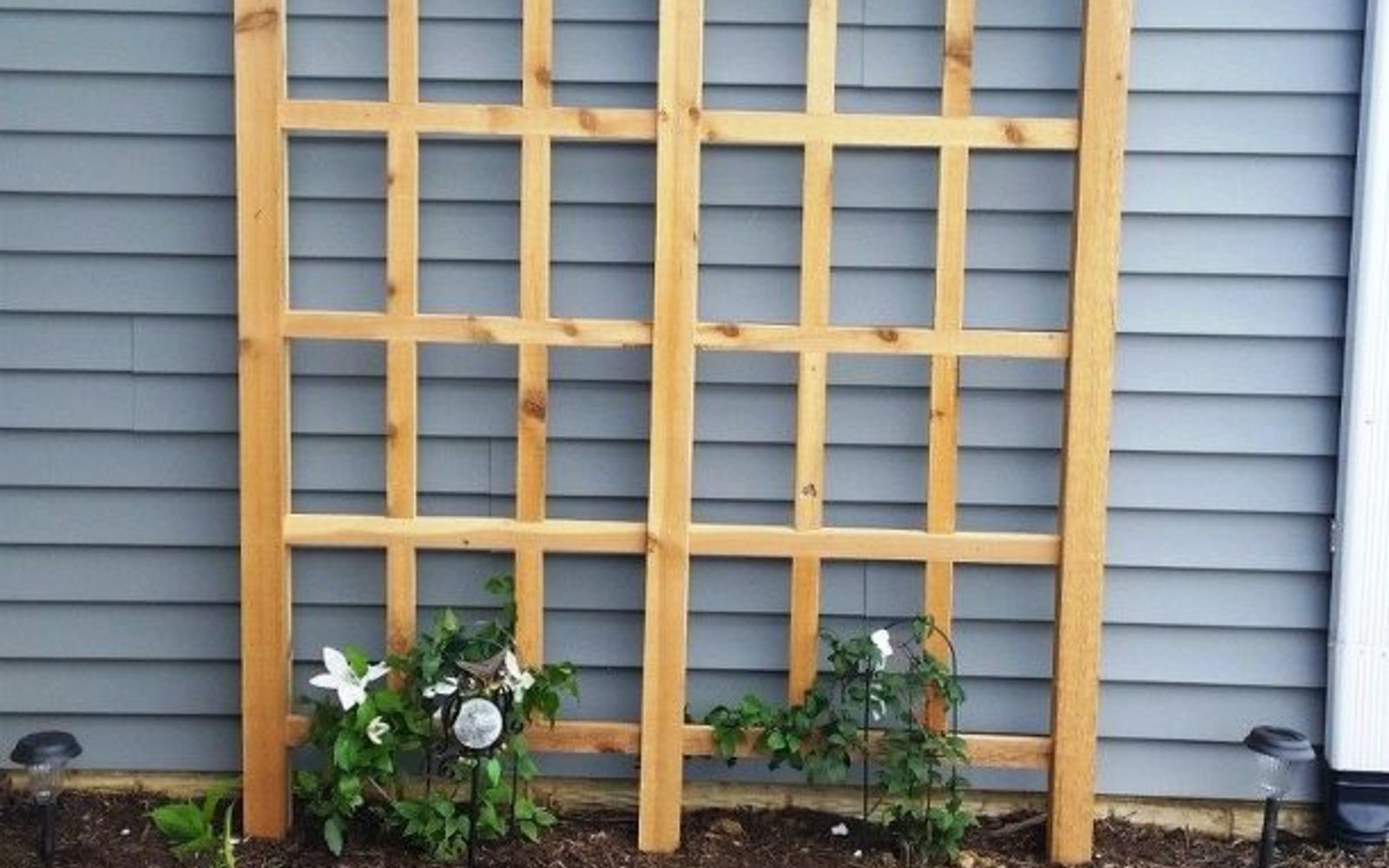 s 17 ways to build a gorgeous garden trellis this summer, gardening, Put up a standing wood grid for tall climbers