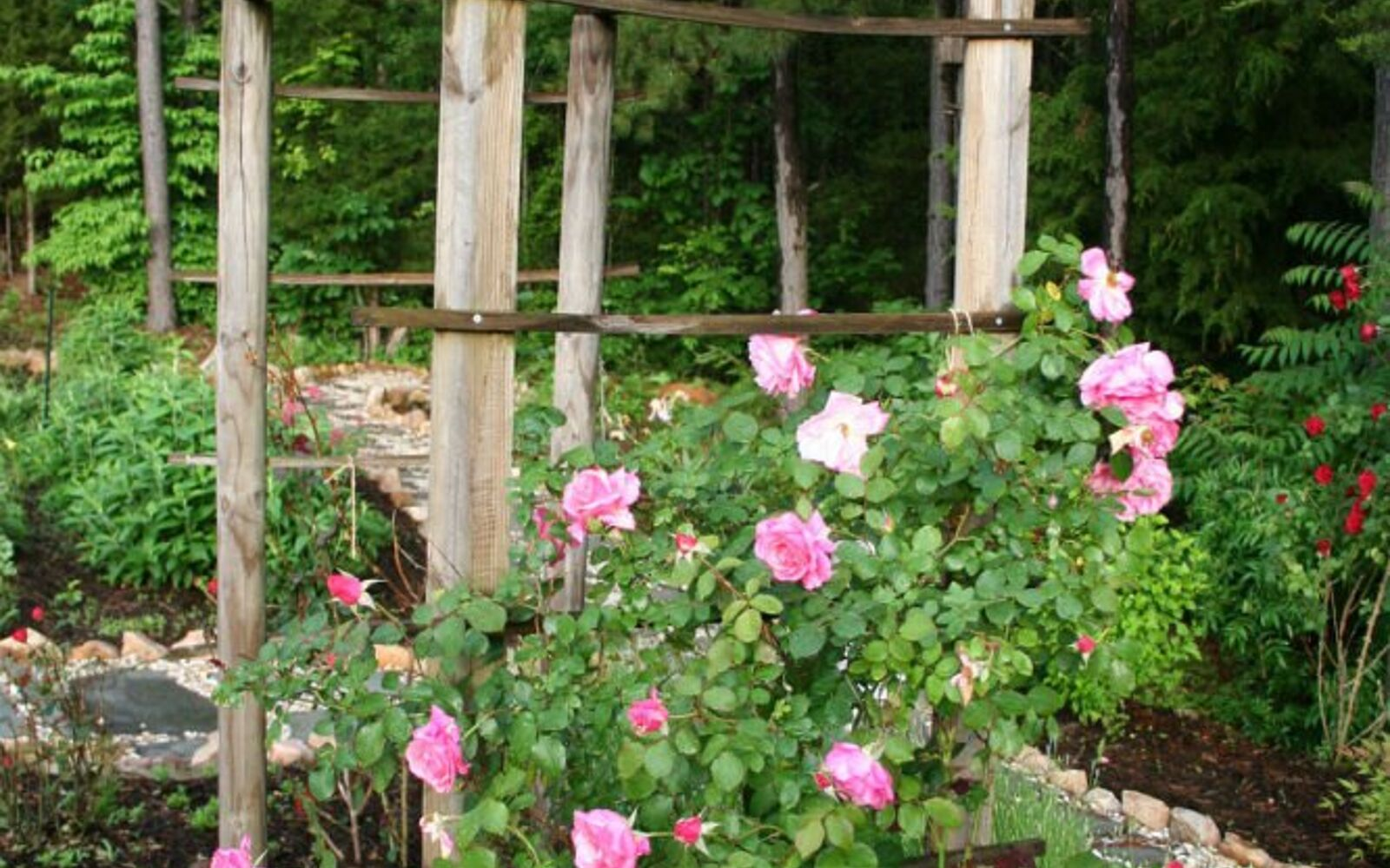s 17 ways to build a gorgeous garden trellis this summer, gardening, Nail scrap lumber together for an arbor