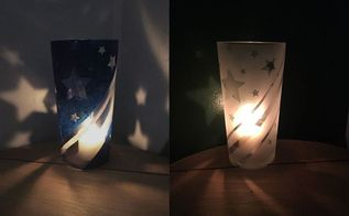 patriotic star luminary dollar store glasses, lighting, seasonal holiday decor