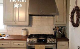 diy range hood vent pipe cover, appliances, diy, how to, hvac, kitchen design