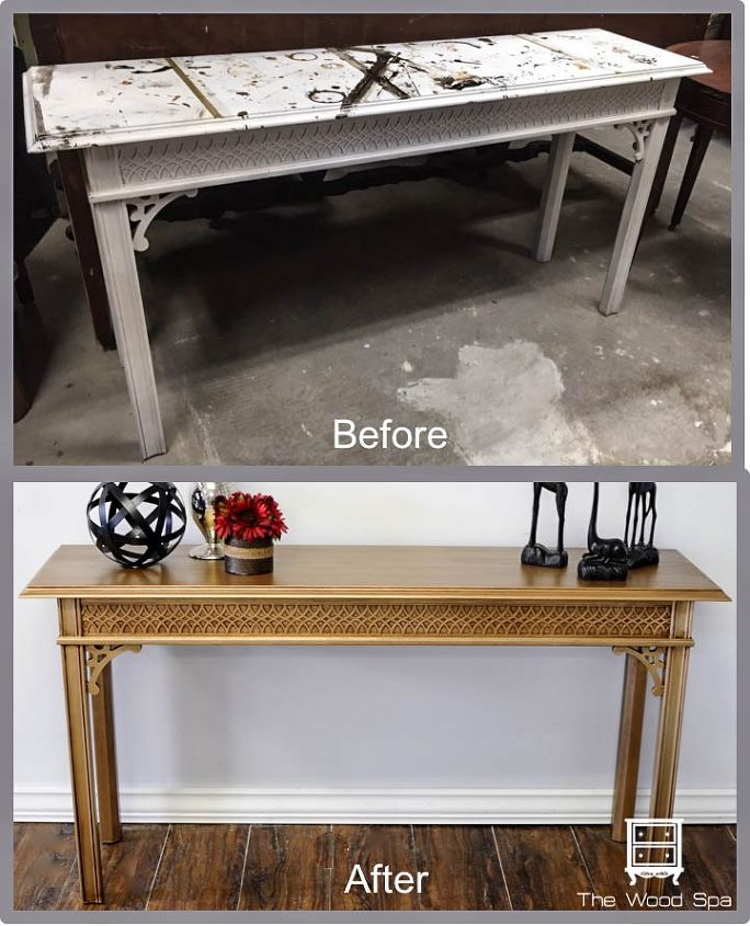 Video Tutorial How I Painted A Gold Table With Metallic