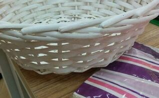 q any tips for decoupaging a basket that is very textured , crafts, decoupage