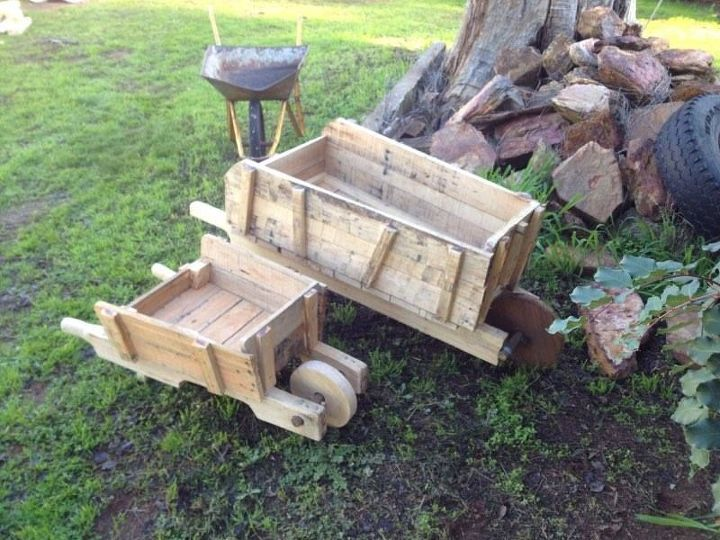 Rustic birdboxes planters made from pallets hometalk for Planters made out of pallets