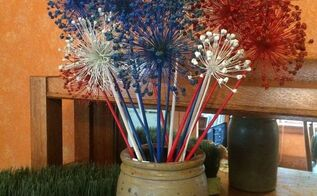 fast free fun 4th of july decor , crafts, patriotic decor ideas, seasonal holiday decor