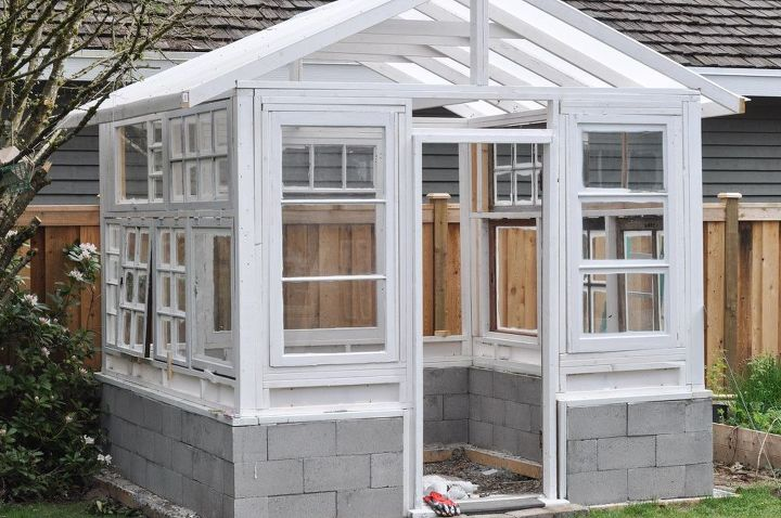 Build a Greenhouse From Vintage Windows | Hometalk