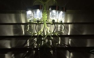 my take on another solar chandelier , go green, how to, lighting, A soft glow at night