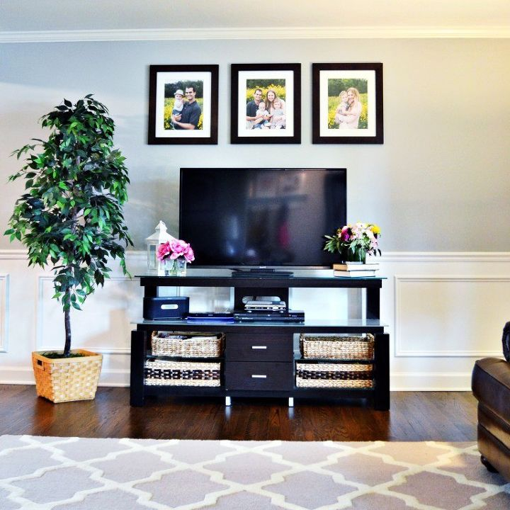 Adding Wainscoting And New Paint To Our Living Room Home Decor Painting Wall