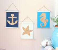 sandy shapes wall art, crafts, home decor