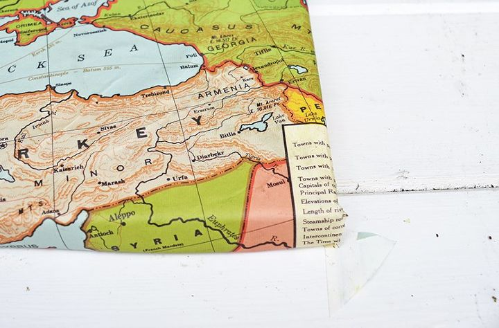 Upcycled Map Magnetic Notice Board and Shrink Plastic Pins – Magnetic Travel Map