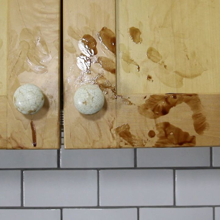How To Get Grease Off Wooden Kitchen Cabinets