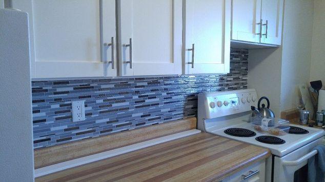 Rental Apartment Kitchen Updo Kitchen Backsplash Kitchen Cabinets Kitchen Design