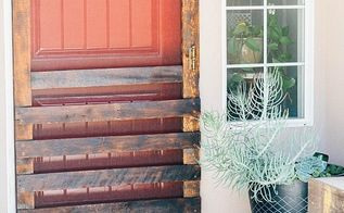 diy pallet board screen door, diy, doors, pallet