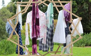 make a star shaped clothes drying rack, diy, laundry rooms, pallet, storage ideas, tools, woodworking projects