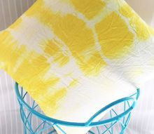tie dye fabric using turmeric yes the kitchen spice, crafts, go green, how to, reupholster