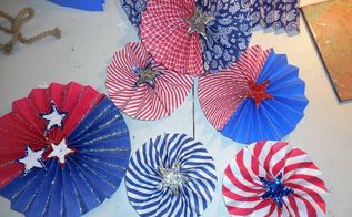 pinwheels, crafts, how to, patriotic decor ideas, seasonal holiday decor