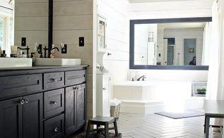 modern farmhouse bathroom makeover, bathroom ideas, small bathroom ideas