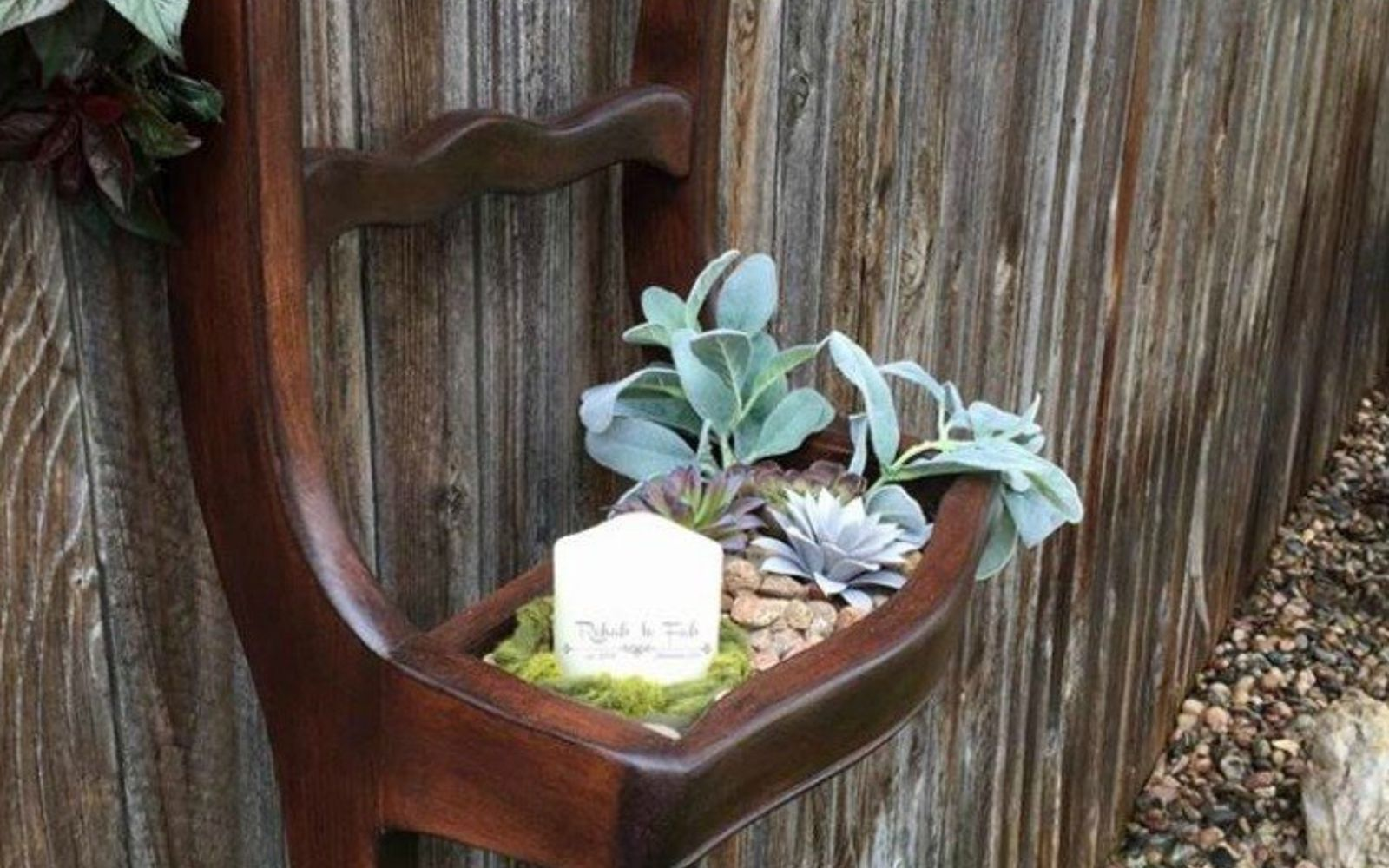 s 17 insanely fun ways to display your favorite succulents, flowers, gardening, succulents, Hang some up in an old broken chair