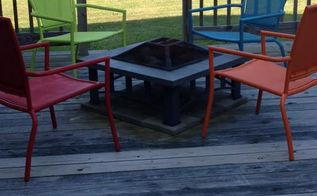 from drab to fab, outdoor furniture, painted furniture