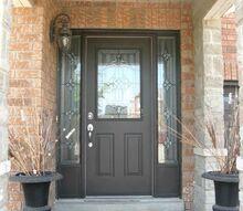 q what color should i paint my front door , curb appeal, doors, paint colors, Existing front door boring brown
