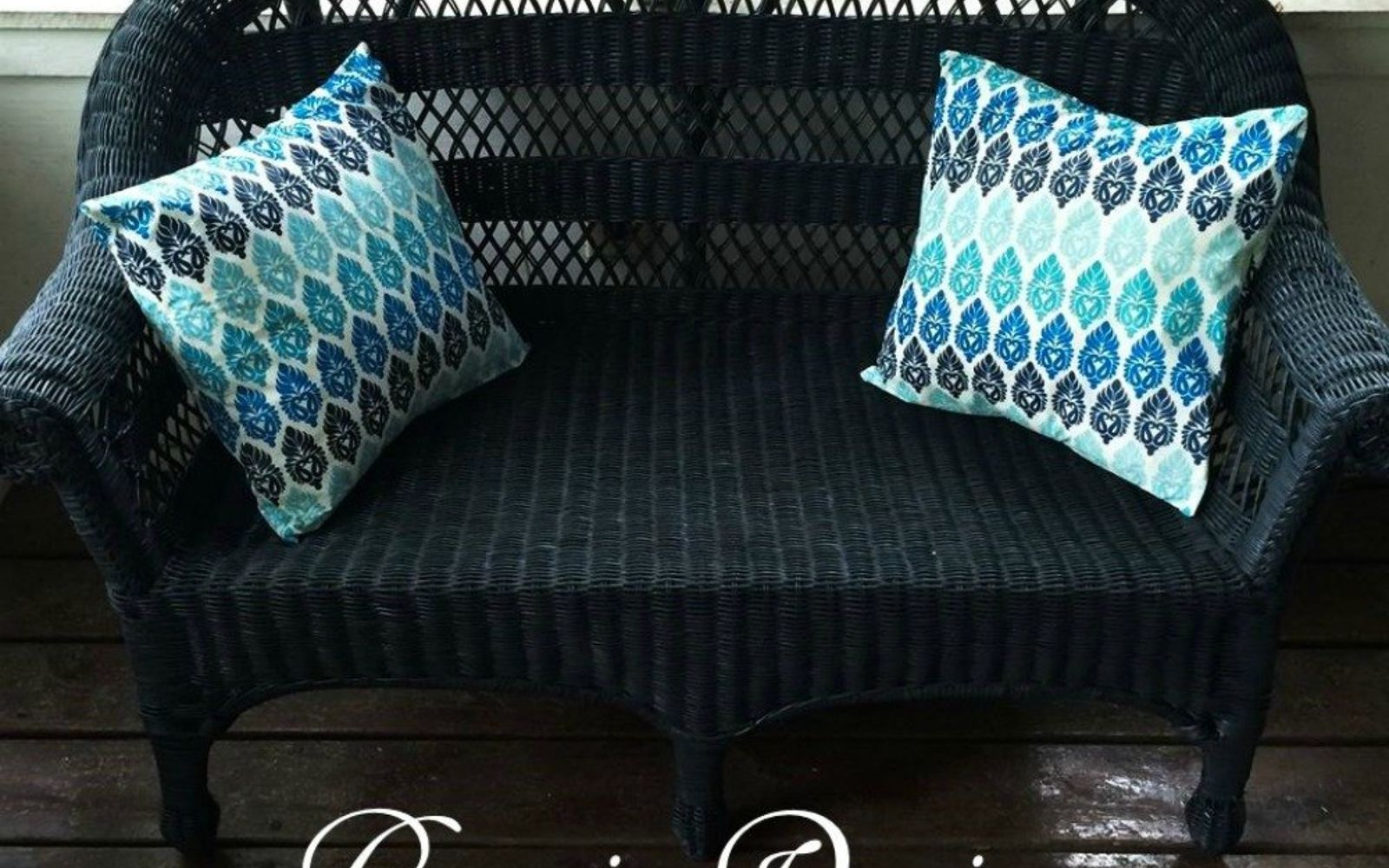 s 9 genius decorating hacks using tablecloths, repurposing upcycling, Use a plastic tablecloth for patio pillows