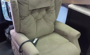 q can i dye this lift chair to blue or black , painted furniture, painting upholstered furniture, reupholster