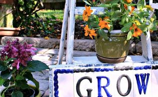 how to make a plant stand from a stepladder, gardening, how to, repurposing upcycling