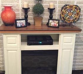 electric fireplace gets a facelift chalk paint diy fireplaces mantels painted furniture - Electric Fireplace With Mantel
