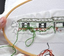 turn your house into an embroidery pattern, crafts, wall decor