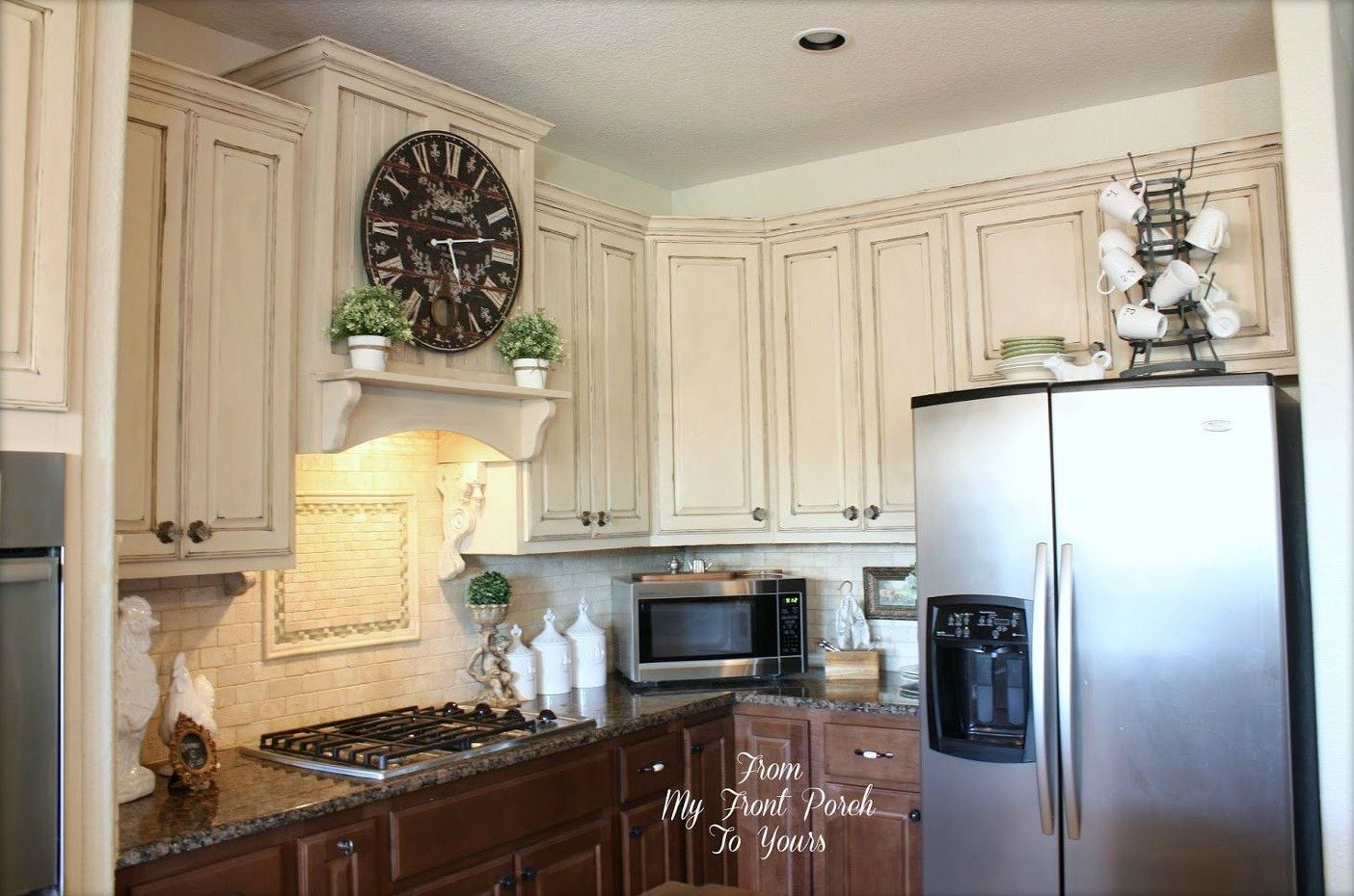 13 ways to instantly brighten up a boring kitchen hometalk for Who paints kitchen cabinets