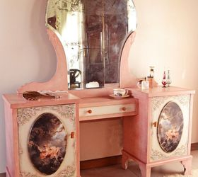 A Romantic Vanity Dresser, Bedroom Ideas, Painted Furniture, Painting Wood  Furniture, Shabby